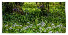 Bluebells And Wild Garlic At Coole Park Beach Towel
