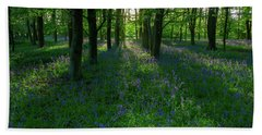 Bluebells In Oxey Woods Beach Sheet