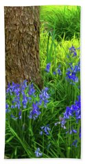 Beach Towel featuring the photograph Bluebells Of Springtime  by Connie Handscomb