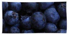 Blueberries Close-up - Horizontal Beach Towel