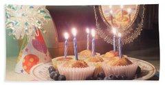 Blueberry Muffin Birthday Beach Towel