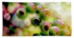Blueberry On The Vine Beach Towel by Mike Eingle