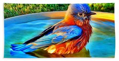 Bluebird Bath Beach Towel