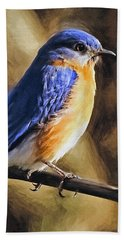 Bluebird Portrait Beach Sheet