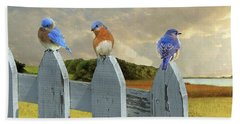 Bluebirds In My Heart Beach Sheet