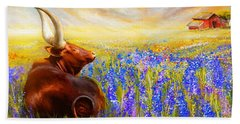 Bluebonnet Dream - Bluebonnet Paintings Beach Towel