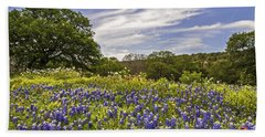 Bluebonnet Spring Beach Sheet