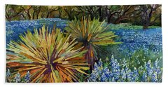 Bluebonnets And Yucca Beach Towel