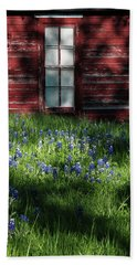 Beach Towel featuring the photograph Bluebonnets In The Shade by David and Carol Kelly