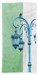 Blue,green And White Beach Sheet