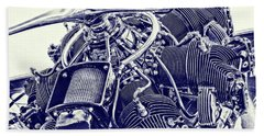 Blueprint Radial Beach Towel