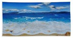 Blues And Foam Beach Towel