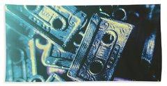 Blues On Cassette Beach Towel