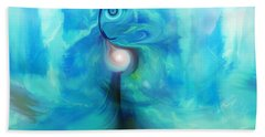 Beach Towel featuring the digital art Bluescape by Linda Sannuti