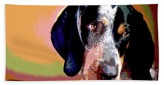 Bluetick Coonhound Beach Towel by Charles Shoup