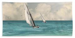 Bluewater Cruising Sailboats Beach Sheet