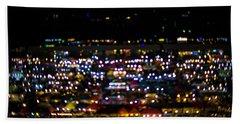 Blurred City Lights  Beach Towel