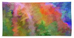 Blurry Painting Beach Towel by Wendy McKennon