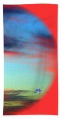 Blushed Sky Beach Towel by Linda Hollis
