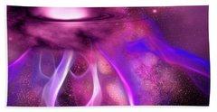 Blushing Nebula Beach Towel