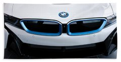 Beach Towel featuring the photograph Bmw E Drive I8 by Aaron Berg