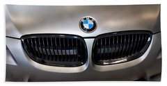 Beach Towel featuring the photograph Bmw M3 Hood by Aaron Berg