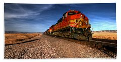 Bnsf Freight  Beach Towel