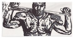 Bo Jackson The Ball Player Beach Sheet by Jeremiah Colley