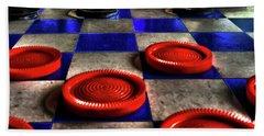 Board Games Checker Board Beach Sheet