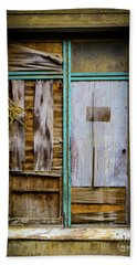 Boarded Window Beach Towel