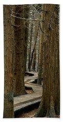 Boardwalk Among Trees Beach Towel