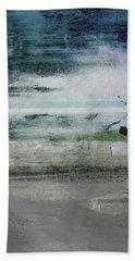 Boardwalk Blues 2- Art By Linda Woods Beach Sheet by Linda Woods