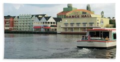 Boardwalk Boat Ride Walt Disney World Mp Beach Towel