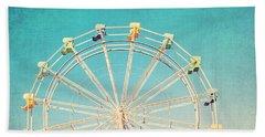 Boardwalk Ferris Wheel Beach Towel by Melanie Alexandra Price