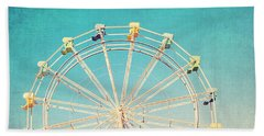 Boardwalk Ferris Wheel Beach Sheet by Melanie Alexandra Price