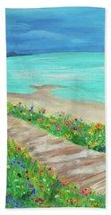 Boardwalk In Carmel Beach Towel