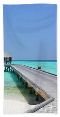 Boardwalk In Paradise Beach Towel
