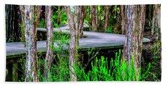 Boardwalk In The Woods Beach Sheet