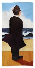 Boardwalk Man Beach Towel