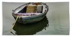 boat at Ganges Beach Towel