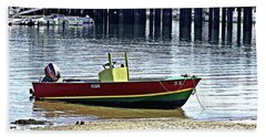 Boat At The Beach Provincetown Beach Towel
