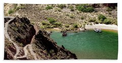 Boat Beach On The Colorado River Beach Towel
