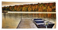 Boat Dock Le-aqua-na II Beach Towel
