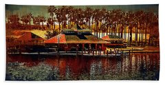 Boat Dock On North Lake Beach Towel
