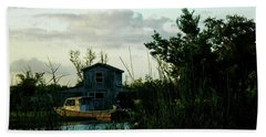 Beach Towel featuring the photograph Boat House by Cynthia Powell