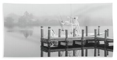 Beach Towel featuring the photograph Boat In The Sounds Alabama  by John McGraw