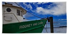 Beach Towel featuring the photograph Boat Love In Apalachicola by Toni Hopper