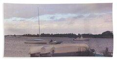 Boat Parking Beach Sheet by JAMART Photography