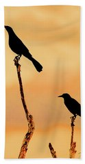 Boat Tailed Grackles Beach Towel