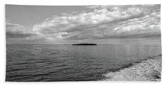 Boat Wake On Florida Bay Beach Towel